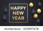golden decoration ornament with ... | Shutterstock .eps vector #525097678