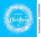 wreath ornament decoration of... | Shutterstock .eps vector #525098500
