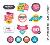 sale stickers  online shopping. ... | Shutterstock .eps vector #525099094