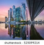 skyscrapers in moscow city with ... | Shutterstock . vector #525099214