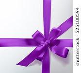 vector christmas purple gift... | Shutterstock .eps vector #525100594