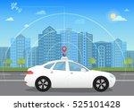 self driving intelligent... | Shutterstock . vector #525101428