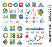 business charts. growth graph.... | Shutterstock .eps vector #525103276