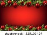new year red background with... | Shutterstock .eps vector #525103429