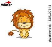 vector lion. cute  lion cartoon ... | Shutterstock .eps vector #525107848