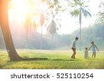 happy asian family enjoying... | Shutterstock . vector #525110254