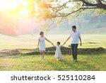 happy asian family enjoying... | Shutterstock . vector #525110284