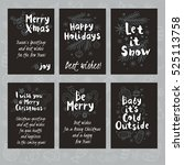 merry christmas. happy new in... | Shutterstock .eps vector #525113758