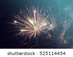 fireworks at new year and copy... | Shutterstock . vector #525114454