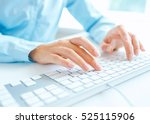 female hands or woman office... | Shutterstock . vector #525115906