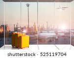 traveling luggage in airport... | Shutterstock . vector #525119704