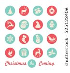 christmas icon collection | Shutterstock .eps vector #525123406