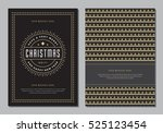 christmas greeting card or... | Shutterstock .eps vector #525123454