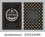 christmas greeting card or... | Shutterstock .eps vector #525123490