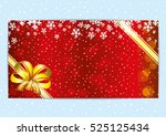 christmas and new year red... | Shutterstock .eps vector #525125434