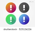 colored icon of attention... | Shutterstock .eps vector #525126226