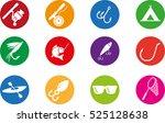 fishing icon set   Shutterstock .eps vector #525128638