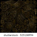 black gold indian paisley...