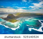 aerial view of the underwater... | Shutterstock . vector #525140524