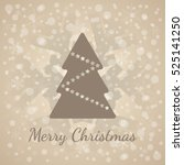 classic merry christmas... | Shutterstock .eps vector #525141250