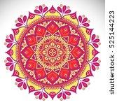 vector indian mandala | Shutterstock .eps vector #525144223