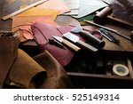 leather craft or leather... | Shutterstock . vector #525149314