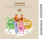 bacteria web banner. group of... | Shutterstock .eps vector #525152548