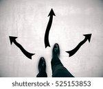 man's feet on concrete floor... | Shutterstock . vector #525153853