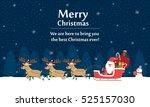 vector illustration   santa... | Shutterstock .eps vector #525157030