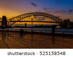 Silhouette Of The Sydney...