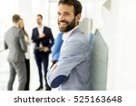 businessman standing in the... | Shutterstock . vector #525163648