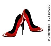 woman shoes pop art   Shutterstock .eps vector #525164230