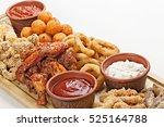 dish of appetizers to beer. bbq ...   Shutterstock . vector #525164788