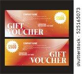 gift certificatevector... | Shutterstock .eps vector #525165073