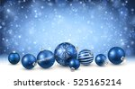 new year background with blue... | Shutterstock .eps vector #525165214