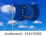 european union official flag.... | Shutterstock . vector #525170200