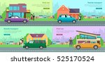 collection of icons with... | Shutterstock .eps vector #525170524