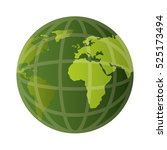 world planet earth isolated icon | Shutterstock .eps vector #525173494