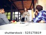 woman making a business... | Shutterstock . vector #525175819