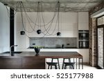 Kitchen In A Loft Style With...