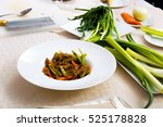 meat dish with vegetables on...