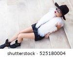 full length fashion photo of... | Shutterstock . vector #525180004