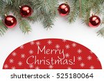 christmas decoration background ... | Shutterstock . vector #525180064