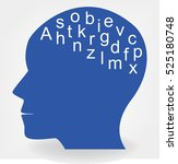 head and letters | Shutterstock .eps vector #525180748