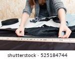 hands of designer at work with... | Shutterstock . vector #525184744
