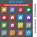 houses web icons in flat design ... | Shutterstock .eps vector #525186610