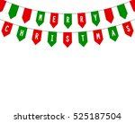 decorative flags on greeting...   Shutterstock .eps vector #525187504