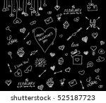 valentine's day .happy... | Shutterstock .eps vector #525187723