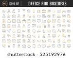 set vector line icons in flat... | Shutterstock .eps vector #525192976