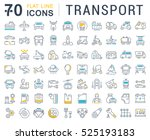 set vector line icons in flat... | Shutterstock .eps vector #525193183